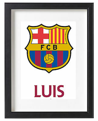 Barcelona A4 Poster Name Personalised Messi Suarez Neymar