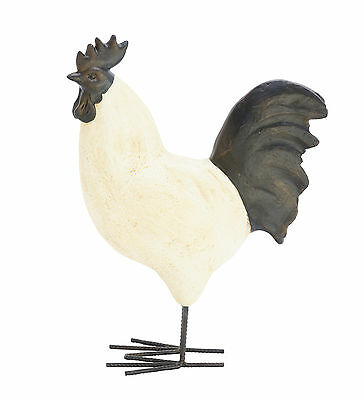 """GwG Outlet Polystone Metal Rooster Statue 14""""W, 18""""H 79950"""