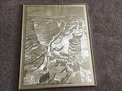 Manifestations Gallery Poster Of The Grand Canyon In Gold Foil