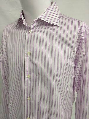 ETON MENS PURPLE Micro-Striped Cotton Dress Shirt ~ Size 44