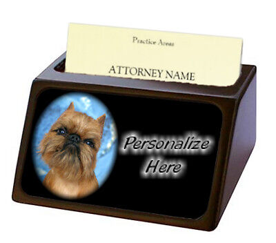 Brussels Griffon  Pet Breed  Personalized Business Card Holder