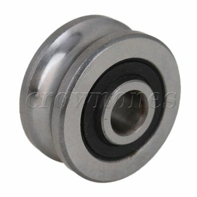 SG25 Steel Guide U-Groove Bearing Ulley Sealed Ball Bearings 8 x 30 x 14mm