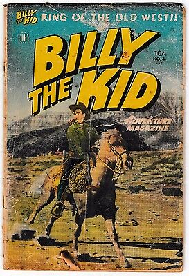 BILLY THE KID #4 Toby Press 1951 Classic Western Golden-Age Comic Photo Cover!