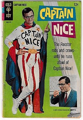 CAPTAIN NICE #1 (VG+) Classic TV Show! Photo Cover! Only Issue 1967 Gold Key