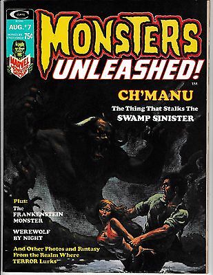 MONSTERS UNLEASHED #7 (VF+) WEREWOLF! Nice High Grade Magazine! 1974 Marvel