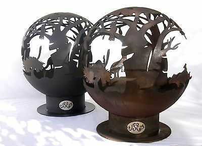 Standard Australiana Feature Fire Pit / Planter/ Garden Art - Rust Finish. NEW.