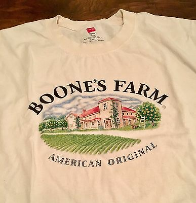 Boone's Farm Wine American Original Large Adult Shirt Winery NICE