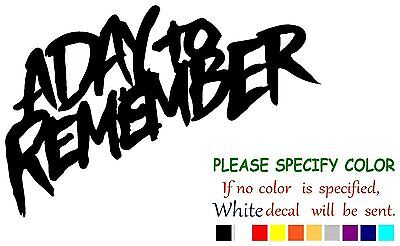 """A Day To Remember Rock Graphic Die Cut decal sticker Car Truck Boat Window 7/"""""""