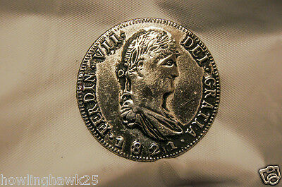 FERDIN DEI GRATIA 1821 Mexico Original Authentic Silver Coin Uncirculated