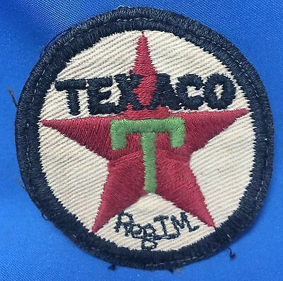 Original Vintage TEXACO Gas & Oil Advertising Embroidered Patch