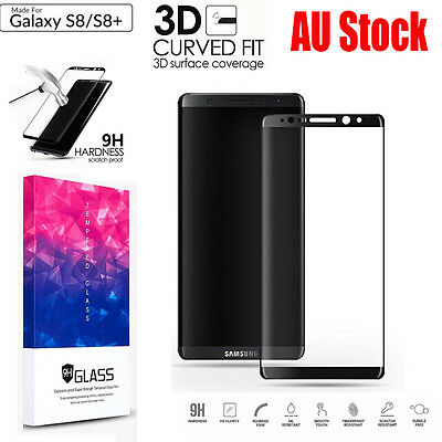 Galaxy S9 S8 Note 8 3D Full Coverage Tempered Glass Screen Protector for Samsung