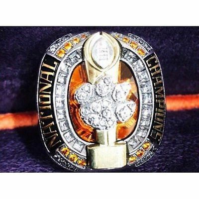 High Quality 2016 -2017 Clemson Tigers National Championship Ring Solid Fan Men