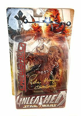 Peter Mayhew Autographed Star Wars Chewbacca Unleashed Figure