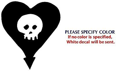 Alkaline Trio heart skull Graphic Die Cut decal sticker Car Truck Boat 6""