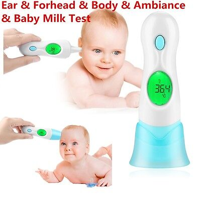 Non-contact Digital IR Infrared Laser Body Ear Forehead Thermometer Baby Adult