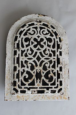 Antique Cast Iron Heat Register Floor Grate Arch Top Dome Gothic
