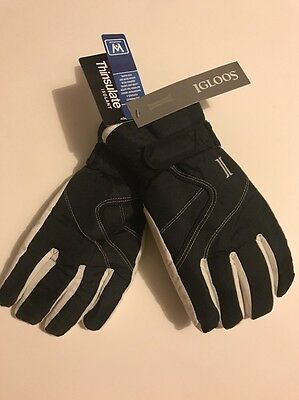 Womens Igloos Winter Ski Gloves Thinsulate/Waterproof  Black  Size S/M
