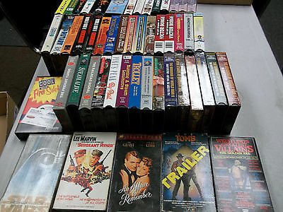 49 Oop Vhs Tapes Some Rare Less Than .50 Each Trains War Workout & More