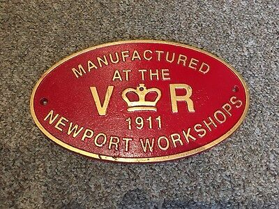Newport Repro Railway Plaque