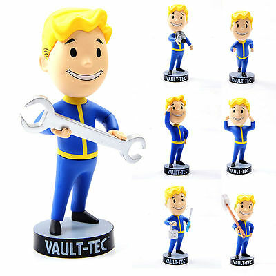"5"" Fallout 4 Vault Boy Official Figure Tech 111 Bobbleheads Toys Consoles Games"