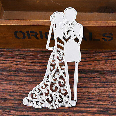 Wedding Couple Metal Cutting Dies Stencil DIY Scrapbooking Embossing Album Craft