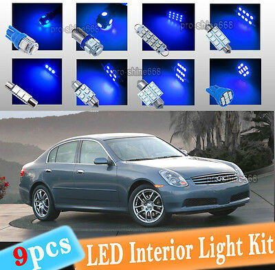 Led Blue Lights Interior Kit For Infiniti G35 Coupe Sedan 2003 2006