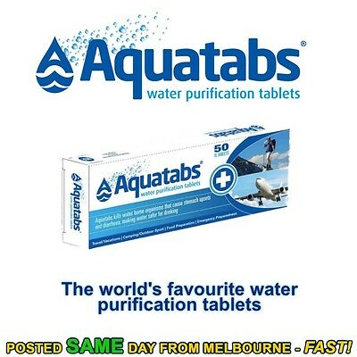 Aquatabs water purification tablets cheapest hiking camping prepping