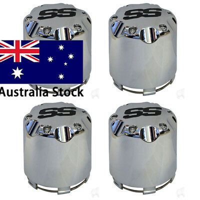 4X Chrome SS Center Caps for Golf Cart Wheels Push in Style Free Shipping