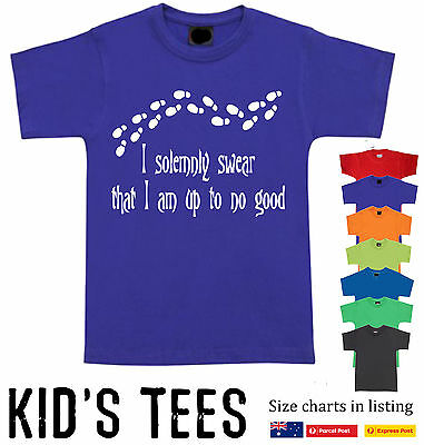 Funny T-Shirts I Solemnly Swear That I Am Up To No Good kids Harry potter size
