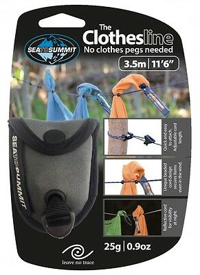 NEW sea to summit clothes line pegless 3.5M  camping, caravan, hiking, backpack