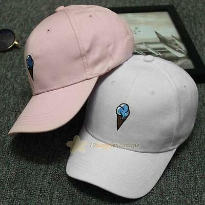 fb3444d2cb5 Unisex Men Women Snapback Ice Cream Bboy Adjustable Baseball Cap Hip Hop Hat