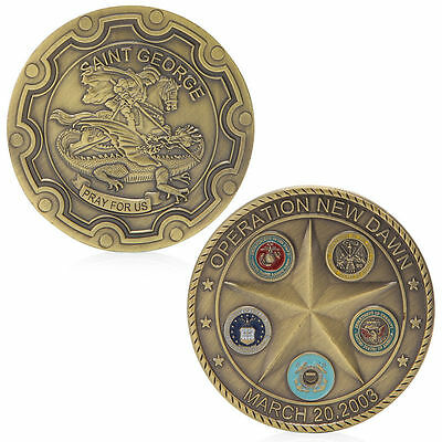 Operation New Dawn Saint George Commemorative Challenge Coin Souvenir Collection