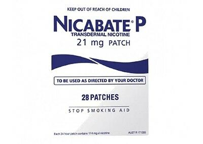 New Nicabate P 21Mg 28 Patches Aust Seller!!! Pharmacy