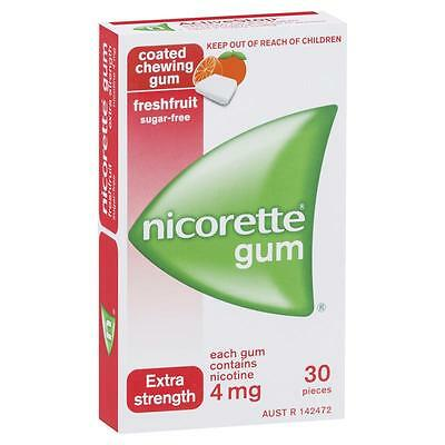 New Nicorette Gum 4Mg 30 Pieces Aust Seller!!!