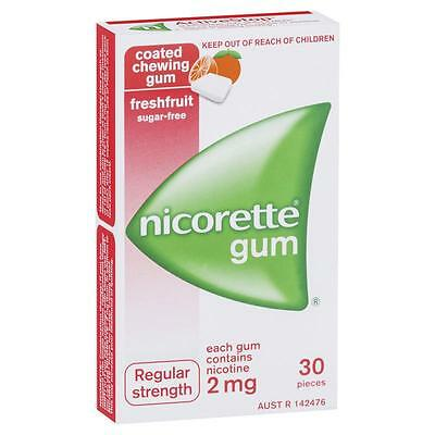 New Nicorette Gum 2Mg 30 Pieces Aust Seller!!!