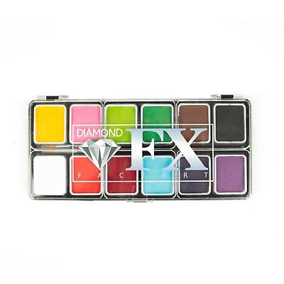 Diamond FX Small 12 Colour Face Paint Palette - Essential Colors!