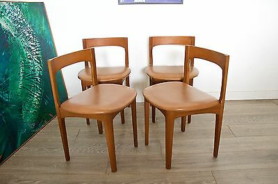 DELIVERY £60 Mid Century Retro Danish Style Nathan Teak 4 Dining Chairs