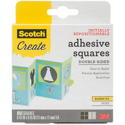 "3M 009-850 Scotch Adhesive Squares Double-Sided 850/Pkg-.45""X.45"""