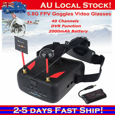 "Eachine VR D2 5"" Race 5.8G 40CH Diversity FPV Video Goggles DVR For Racing Drone"