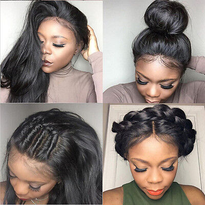 Long Lace Front Wigs Full Straight Synthetic Wigs Natural Black Wigs For Women