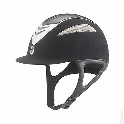 Gatehouse Conquest Air Horse Riding Competition Leather Suede Helmet Free HatBag
