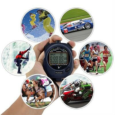 Professional Digital 3 Rows Stopwatch 30 Memory Stopwatch UO