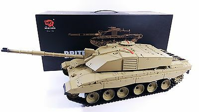 Heng Long Challenger 2 Radio Remote Controlled RC Tank 1/16 UK 2.4G Smoke Sound