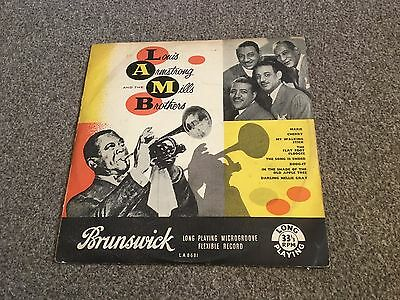 """Louis Armstrong And The Mills Brothers - Rare 1950's 10"""" Lp Brunswick Vg+"""