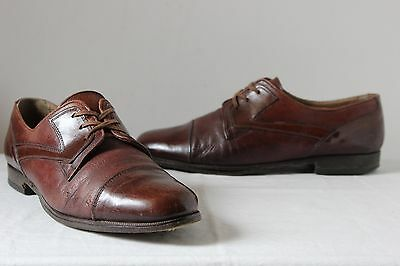 Vintage Trickers Italian brown leather Oxford lace up Derby shoes mens 50s geek