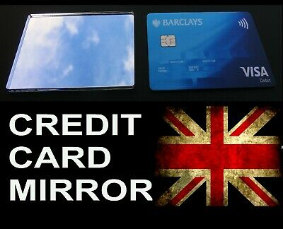 LASER-CUT Smooth Corner Credit Card Mirror,Compact,Wallet/Purse,Makeup,Travel
