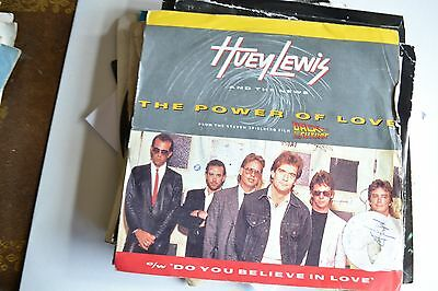 """Huey Lewis And The News        The Power Of Love             7""""  Vinyl"""
