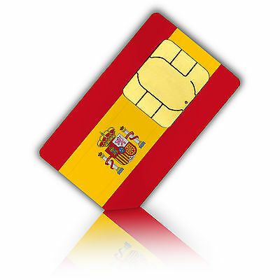 Prepaid Sim Card for use in Spain includes a Phone number +4GB Data