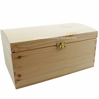 Plain Natural Pine Wooden Storage Trunk / Chest / With Lid 5 sizes - BPU120