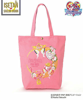 SAILOR MOON 25th × PINKHOUSE CHELSEA Moon makeup Rosetta Tote Bag Pink Color F/S